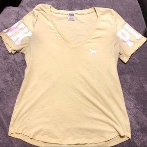 PINK VICTORIA'S SECRET v-neck shirt